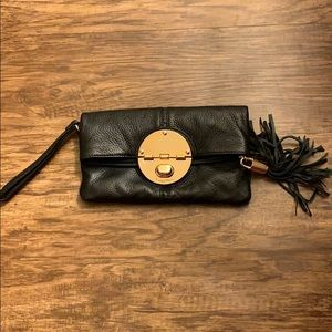 Calvin Klein Black Leather Clutch